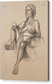 Sandra Reclining #1 Acrylic Print