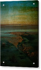 Sands At Mount St Michael Acrylic Print by Karo Evans