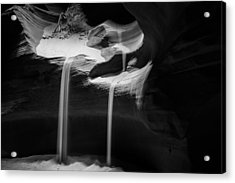 Sands Black And White Acrylic Print by Gregory Ballos