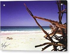 Sands Of Barbados Acrylic Print