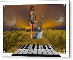 Sands Of Music Acrylic Print