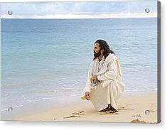 Sands Of The Sea Acrylic Print by Lois Colton