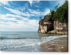 Sandstone Cliffs By Ocean At Telok Acrylic Print