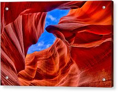 Sandstone Curves In Antelope Canyon Acrylic Print by Greg Norrell