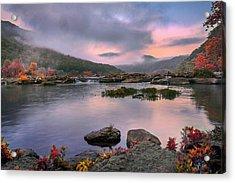 Sandstone Falls At Dawn Acrylic Print