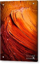 Sandstone Flakes Acrylic Print by Inge Johnsson