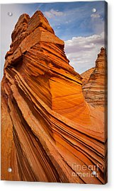 Sandstone Flatiron Acrylic Print by Inge Johnsson