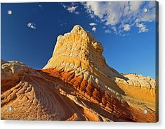Sandstone Formations At White Pocket Acrylic Print