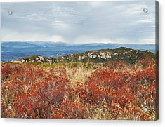 Sandstone Peak Fall Landscape Acrylic Print by Kyle Hanson