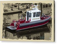 Sandwich Cape Cod Fire Rescue Boat Acrylic Print by Constantine Gregory
