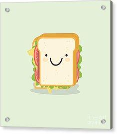 Sandwich Cartoon Vector Illustration Acrylic Print