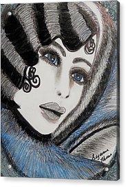 Sandy Art Deco Acrylic Print by Suzanne Thomas