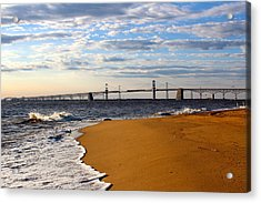 Sandy Bay Bridge Acrylic Print