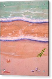 Sandy Beach Acrylic Print