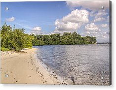 Acrylic Print featuring the photograph Sandy Beach by Jane Luxton