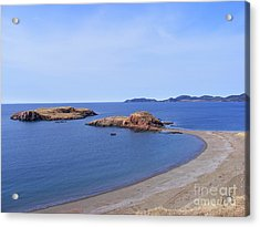 Sandy Beach - Little Island - Coastline - Seascape  Acrylic Print by Barbara Griffin