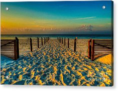 Acrylic Print featuring the photograph Sandy Beach by Maddalena McDonald