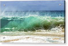Sandy Beach Shorebreak 1 Acrylic Print by Leigh Anne Meeks