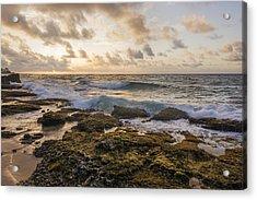 Sandy Beach Sunrise 2 - Oahu Hawaii Acrylic Print by Brian Harig