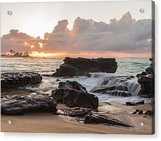 Sandy Beach Sunrise 6 Acrylic Print by Leigh Anne Meeks