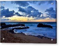 Sandy Beach Sunrise 6 - Oahu Hawaii Acrylic Print by Brian Harig