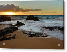 Sandy Beach Sunrise 7 - Oahu Hawaii Acrylic Print by Brian Harig