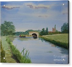 Acrylic Print featuring the painting Sandy Bridge by Martin Howard