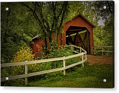 Sandy Creek Bridge Near Hillsboro Mo Dsc06888 Acrylic Print