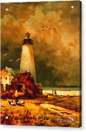 Sandy Hook Lighthouse - After Moran Acrylic Print
