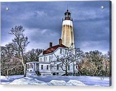 Sandy Hook Lighthouse Acrylic Print by Geraldine Scull