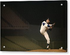 Sandy Koufax High Kick Acrylic Print by Retro Images Archive