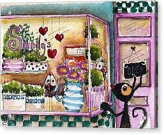 Sandy's Floral Shop Acrylic Print by Lucia Stewart