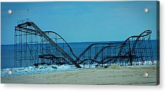 Sandy's Rollercoaster Acrylic Print by William Walker
