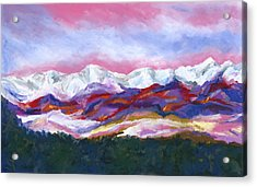 Acrylic Print featuring the painting Sangre De Cristo Mountains by Stephen Anderson