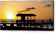 Sanibel Island Sunset Acrylic Print by Edward Fielding