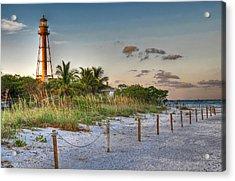 Sanibel Lighthouse Acrylic Print by Geraldine Alexander