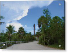 Acrylic Print featuring the photograph Sanibel Lighthouse Road by Timothy Lowry