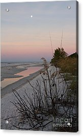 Sanibel Moonrise Acrylic Print by Chris Scroggins