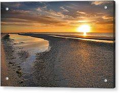 Sanibel Sunrise Xxi Acrylic Print by Steven Ainsworth