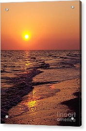 Acrylic Print featuring the photograph Sanibel Sunset by D Hackett