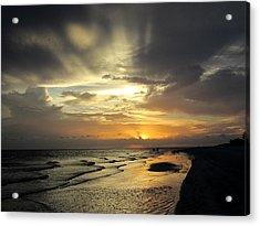 Sanibel Sunset Acrylic Print by Rosie Brown