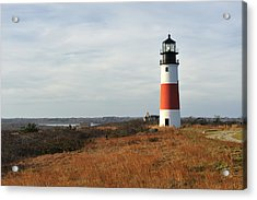 Sankaty Head Lighthouse Nantucket In Autumn Colors Acrylic Print