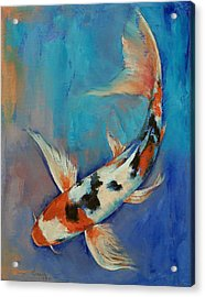 Sanke Butterfly Koi Acrylic Print by Michael Creese
