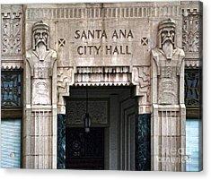 Santa Ana City Hall - 01 Acrylic Print by Gregory Dyer