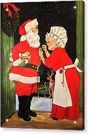 Santa And Mrs Acrylic Print