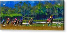 Santa Anita Races Acrylic Print
