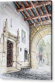 Santa Barbara Courthouse Arch Acrylic Print