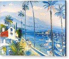 Santa Barbara Harbor Acrylic Print by Mikhail Zarovny