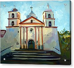 Santa Barbara Mission Acrylic Print by Filip Mihail