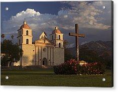 Acrylic Print featuring the photograph Santa Barbara Mission Mg_6324 by David Orias